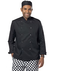Black long sleeve chef jackets